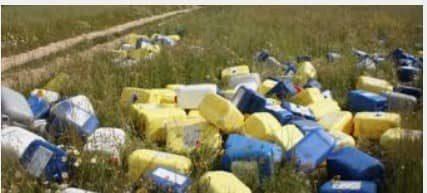 jerrican recyclables en plastique